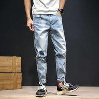 2020 Moda Masculina Jeans Nova Qualidade Alta End Denim Solto Jeans Casual Tamanho 30-46 Atacado