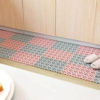 Cocina de plástico Mat de cocina antideslizante Balcón Baño Baño Sólido Color Alfombra Feliz Pasillo Baño Splicación Mat Mat Carpet Dwe6713