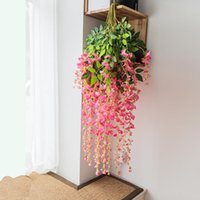 Flores decorativas grinaldas planta artificial wisteria flor home el restaurante parede jardim suspensão decoração casamento arco teto rattan