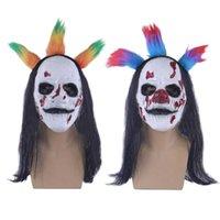 Halloween-Maske Latex Horror Scary Killer Clown Masken Full Head Face Cosplay Evil Joker Halloween Maskerade Requisiten G0910