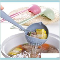 Spoons Flatware Kitchen, Dining Bar Home & Gardenlong Handle Soup Spoon With Filter Plastic Cooking Colander Scoop Tablespoons Strainer Kitc