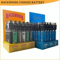 Cookies Backwoods 510 Thread Twist Preheat VV Battery 900mAh Bottom Voltage Adjustable Usb Charger Vape Pen
