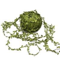 20 Meter Silk Leaf-Shaped Handmake Artificial Green Leaves for Wedding Decoration DIY Wreath Gift Scrapbooking Craft Fake Flower