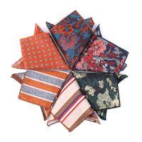 Бантики галстуки Жаккардовый карманный квадрат для мужчин Женщины полосатый грудные полотенца Hanky Gentlemen Kerchief мужские костюмы платок Цветочный