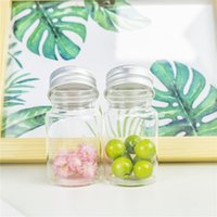 Lagerflaschen Gläser klar 40ml Silbergrau Aluminiumdeckel Kleine Glasbehälter Hohe Qualität Süßigkeitstopf Wishing Vial 24pcs Nachfüllbarer Sub B
