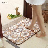 Simplicity 50X80cm Strong Water Absorption Bath Mat Carpet Bathroom Accessories Bathtub Comfortable Pad Large Rugs Mats