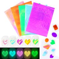 Luminous Effect 3D Mermaid Stickers Colorful Design Hallowee Nail Art Shinning Nails Arts Sticker Glitter Decoration Manicures Tips Tool 1277