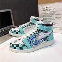 DIY Anime Fan Sneakers Modus Modus Mens Dames Basketbalschoenen Jumpman 1 Model Handgeschilderde Custom Trainers Casual Shoe