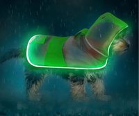 Novelty Lighting LED luminous pet raincoat field safety light strip dog transparent poncho waterproof outdoor products