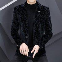 Men's Suits & Blazers Autumn Winter Men Plus Velvet Thick Warm Casual Suit Jacket Korean Slim Fit Business Social Dress Coat Clothing