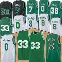 Jayson 0 Tatum Basketball Jersey Kemba 8 Walker Mens Larry 33 Bird Youth Kids Jaylen 7 Brown Mesh Retro Marcus 36 Smart 20 Hayward jerseys