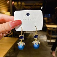 2021 new Korean east gate red fox earrings pearl Tassel Earrings Fashion super fairy face thin Earrings girl