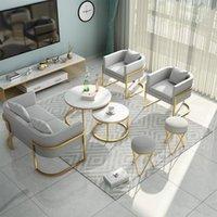 Северная простая современная мебель для гостиной железная ткань чайный стол комбинированный домашний офис бизнес приема диван стул