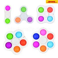 Cross-border finger bubble silicone decompression toy fidget gyro key ring Fidget Dimple CM14