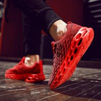 Eur39-46 Men Running Shoes wholesale china Outdoor sport shoe Damping Knit Jogging Walking Breathable Light Sneakers Trainers