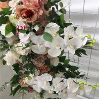 Decorative Flowers & Wreaths SPR 2M pc Good Price Of Wedding Decoration Hydrangea With Rose Artificial Silk Flower Wall