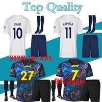 21 22 Tottenham Bale Kane Soccer Jersey Hojbjerg Bergwijn Lo Celso Spurs 2021 2022デリー息子の子供サッカーシャツ制服男性セット男子スーツ大人+キッズキットソックス