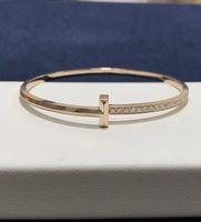 Moda amor metal sentimiento pulsera la joya chica set Diamond A Pareja's Gift Designer Jewelry 18 Karat Rose Gold Top of Line Quality Corred Corred Match