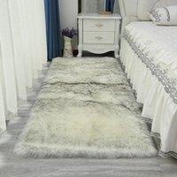Teppiche Schlafzimmer Nacht Plüsch Teppich weiche flauschige pelzige Teppich für Wohnzimmer Imitation Wolle Pad Lange Haar Matte Sofa Kissen Wohnkultur