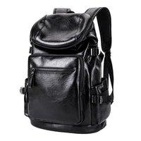 Backpack Aosbos Vintage PU Leather Fashion Laptop Backpacks Large Capacity School Bag For Men Women Travel Bagckpack