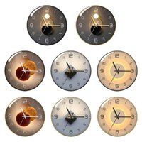 Wall Clocks Modern 12 Inch Simple Decoration Fashion Round Battery Operated Quartz Clock For Kitchen Home School Living Room Bedroom