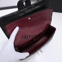 Peau de mouton et peau de vache femme de luxe design de luxe bandoulière sacs de marque mode sac à sac à main Mini classique caviar texture chaîne rabat bag