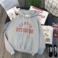 Women's Hoodies & Sweatshirts Long Casual Sleeve Sweatshirt 2021 Loose Plus Velvet Sweet Pullover Harajuku Letters Printing