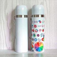Sublimação branco caneca de thermos em branco tumbler 350ml / 500ml portátil copo isolado frasco de vácuo de aço inoxidável garrafa de água térmica presente