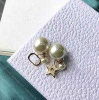 Femmes Boucles d'oreilles Mode Womens Bijoux Pearls Designers Designers Boucles d'oreilles Goujons Perle Boucles d'oreilles Designer Boucle d'oreille 925 Silver Boucles 22 2104161L