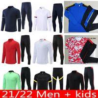 21 22 Man Training Anzug Herren Kids Martial Rashford Überlebensfußfußballjacke Sportbekleidung Joggen UTD 2021 City Sancho Vereinigtes Fußball Trainingsanzug