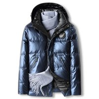 Winter new white duck down hooded men thick short trend cold downs jacket 2196