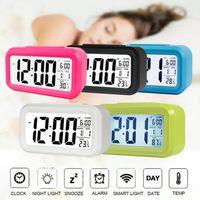 Светодиодный цифровой будильник электронный цифровой экран тревоги настольные часы для домашнего офиса Подсветка Подсветка Snooze Data Календарь настольные часы