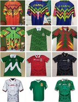 Retro Mexico Soccer Jerseys Blanco 11 Hernandez 15 Campos Ramirez 7 Palencia H.Sanchez 9 Football Shirts Calcio Futbol 86 98 94
