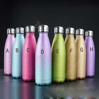17 oz glitter wasser doppelwand isoliert cola glitter tumbler bpa freie metall sportflasche schöne funkeln beschichtung meer schiff dan264