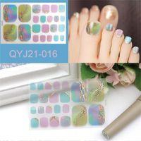 Factory 22 Tips/Sheet Toe Nail Sticker Album Designs Manicure Accesoires NailArt Stickers Wraps DIY Women Salon Loveliness