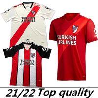 2021 River Assiette Home Jersey de football blanc Rouge G.Martinez Quintero PratTosoccer Shirt 21/22 Football Football Sale