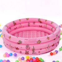 100 cm Piscine tre anelli Baby ispessimento per bambini circolari inflazione giocando a piscina forniture per la casa DHD6533