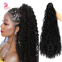 Synthetic Wigs Body Wavy Pony Tail Claw Clamp Clip In Hair Brown Blonde Ponytail Corn Ear Perm Fake