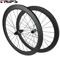 Rodas de bicicleta 700c Freio Freio de Disco Carbono Wheelset 38/50 / 60 / 88mm Clincher Cyclocross Bicicleta 350 Center Lock 25mm Disk