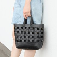 Evening Bags Gnuine Leather Women's Summer Hollow Out Shouler Tote Two-piece Openwork Sweet Messenger Bag Composite