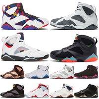 Nike Air Jordan Retro 7 Jorden 7s جوردان جمبمان باتا X راي ألين هير حذاء كرة سلة رجالي هير توباز ميست PSGS أوريغون دكس أولمبيك بلو ترينرز للرجال