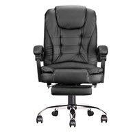 인체 공학적 OOFICE 회전 의자 가구 게임 컴퓨터 하이 백 조정 가능한 높이 및 각도 검은 학습 글쓰기