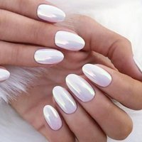 Nail Art Kits 7pc Pearl Glitter Brush Set Rub Dipping Powder For Nails Manicure Holographic Mirror Mermaid Gold Blue Dust