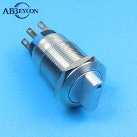 스마트 홈 컨트롤 19mm 노브 스위치 래칭 기능 로터리 금속 12V 조명 도트 LED 선택기 2 위치 1NO 연락처 1NC