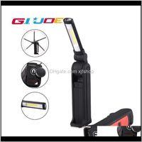 Fenerler COB Manyetik Çalışma USB Şarj Edilebilir Taşınabilir LED Işık Batarya Su Geçirmez Kamp Lambası 2000LM SporLight Lantern Oqnvp TTAGD