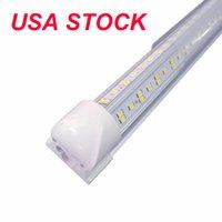 25pcs LED 튜브 라이트, 8ft 100W, 양면 V 모양 통합 전구 램프, T8 안정기없이 작동, 플러그 앤 플레이, 클리어 렌즈 커버, 6000K 144W 6500K 14400lm