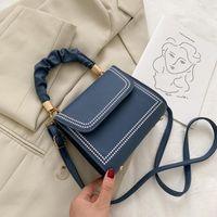 Moda Küçük Çanta Kadınlar için Trend Tasarımcısı Omuz Çantaları Küçük Yeni PU Deri Katı Crossbody Çanta Flap Lady El Torbaları