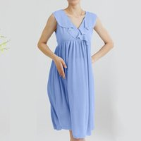 Maternity Dresses Summer Pregnant Dress Woman Solid Color V-neck Maternal Fashion Casual Clothes Ladies Pregnancy