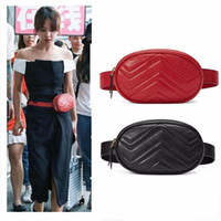 Venta al por mayor New Fashion PU Bolsos de cuero Mujeres Fanny Packs Bolsos de cintura Bolsa de la dama Bolsa de pecho 4 colores Marmont