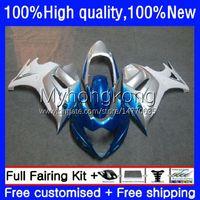 Moto Fairings för Suzuki Silver Blue Katana GSXF 650 GSXF-650 GSX 650F 08-14 29NO.30 GSX650F 08 09 10 11 12 13 14 GSX-650F GSXF650 2008 2009 2010 2011 2012 2013 2014 Bodys